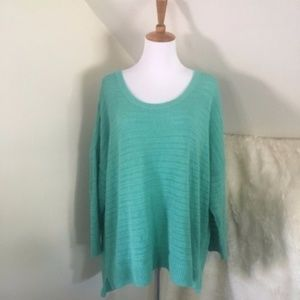 GAP Cotton Teal Scoopneck Sweater XXL